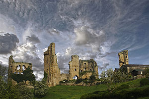 English: Sheriff Hutton Castle taken from the ...