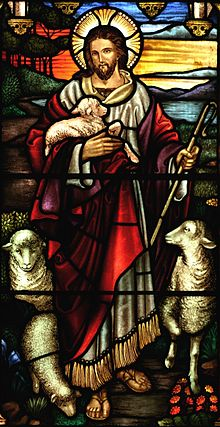 Jesus as Good Shepherd.