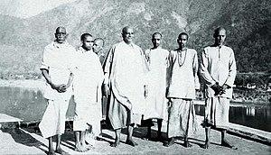 Swami Chinmayananda on his day of Sannyas init...