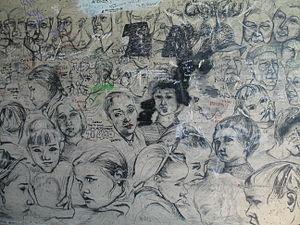 Murale sulla via dell'Amore nelle Cinque Terre