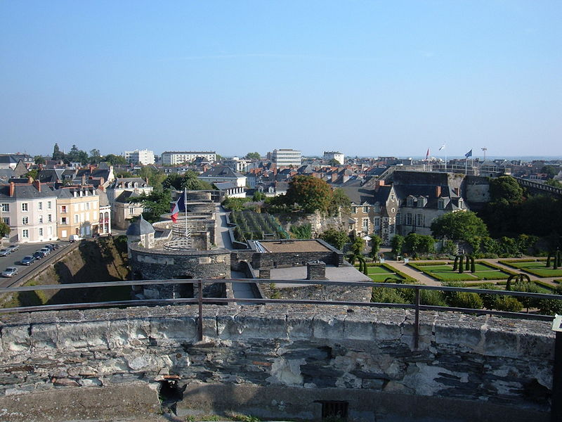View of Château d'Angers from wall 2