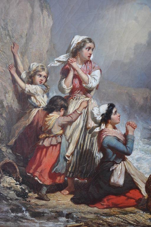 Auguste Delacroix, Ramasseuse de coquillages surprises par la marée