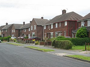 Council-type housing stock in Weaverham, now m...