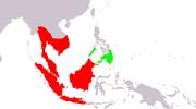Peta penyebaran merah