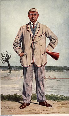 A Vanity Fair portrait of R H Forster in their Rowers of Vanity Fair series