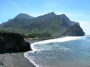 Beach of La Aldea de San Nicolas. Gran Canaria...