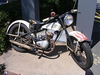 English: Harley-Davidson Hummer single-cylinde...