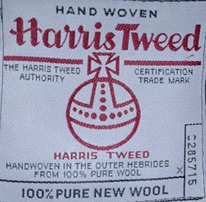 Deutsch: Echtheitsetikett Harris Tweed Česky: ...