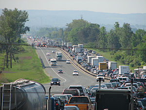 English: Highway 400 in Ontario during the sum...