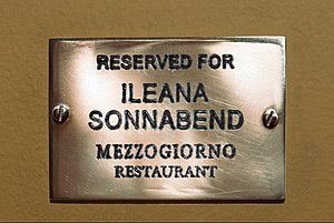 English: Reserved For Ileana Sonnabend