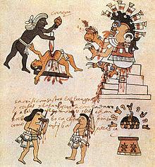 Sacrifice humain chez les Aztques  Wikipdia