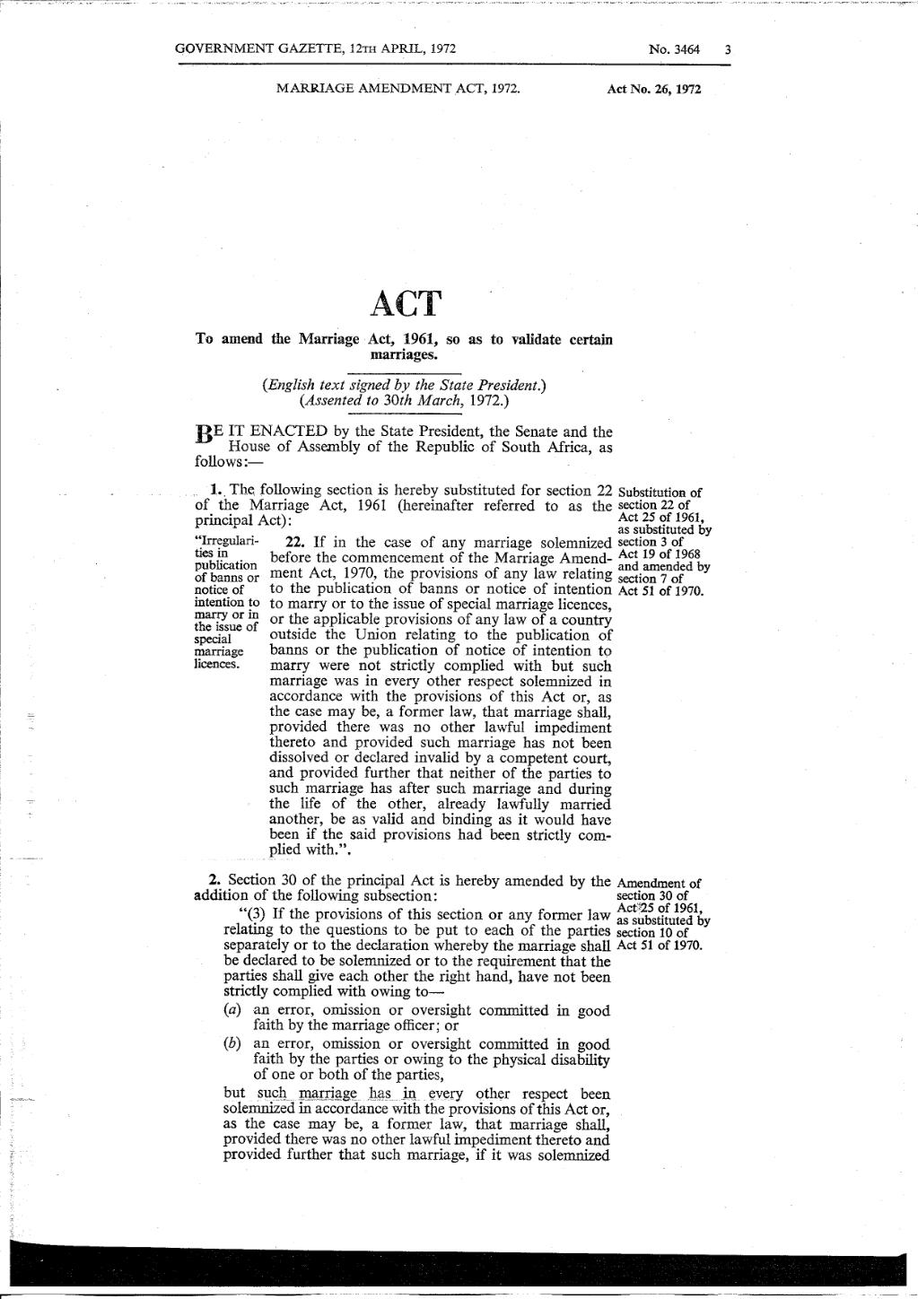 Page:Marriage Amendment Act 1972 from Government Gazette