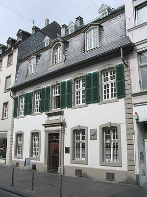 Karl Marx birthplace in Trier, Germany - Brück...