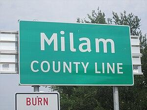 English: I took photo of Milam County, TX, sig...