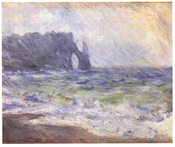 Claude Monet Et La Cte DAlbtre Eclaircie Aprs La Pluie
