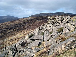 English: Mountainside, Slievenaglogh Mountains...