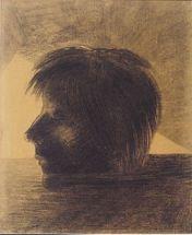 Odilon Redon - Orpheus' Kopf auf dem Wasser treibend