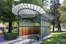 Hector Guimard Paris Metro Entrance of Station