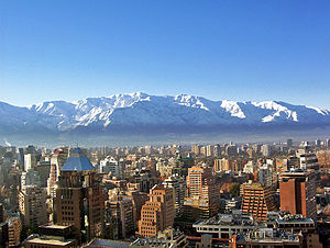 Santiago de Chile in winter