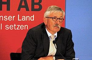 Deutsch: Thilo Sarrazin, bei der Vorstellung s...