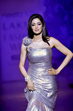 Sridevi at at Neeta Lulla's show for Lakme Fas...