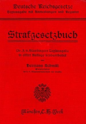 Deutsch: Deutsche Reichsgesetze, Strafgesetzbu...