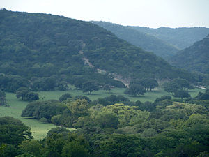 English: Texas Hill Country, on Route 187 head...