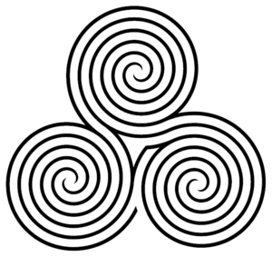 Triple spiral labyrinth
