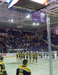 Inside the verizon center ice arena before  ncaa division hockey game between minnesota state mavericks and michigan tech huskies men   teams also mankato civic wikipedia rh enpedia