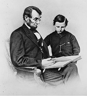 An 1864 Mathew Brady photo depicts President L...