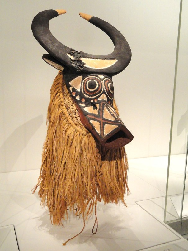 Bush Buffalo Mask, early-mid 1900s, Western Sudan, Burkina Faso, possibly Bwa people, wood, fibers - Cleveland Museum of Art - DSC08709.JPG