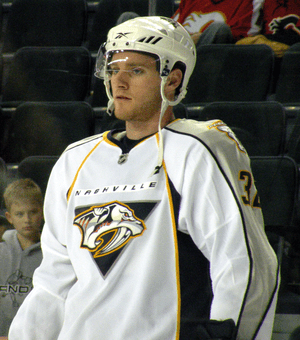 Nashville Predators forward Cody Franson prior...