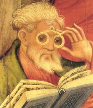The 'Glasses Apostle' in the altarpiece of the...