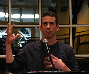 English: Dan Savage speaking at IWU as part of...