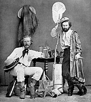 Haeckel (left) with Nicholai Miklukho-Maklai, his assistant, in the Canaries, 1866.