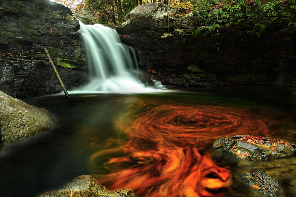A Wallpaper Fall File Fiery Autumn Waterfall Virginia Forestwander Jpg