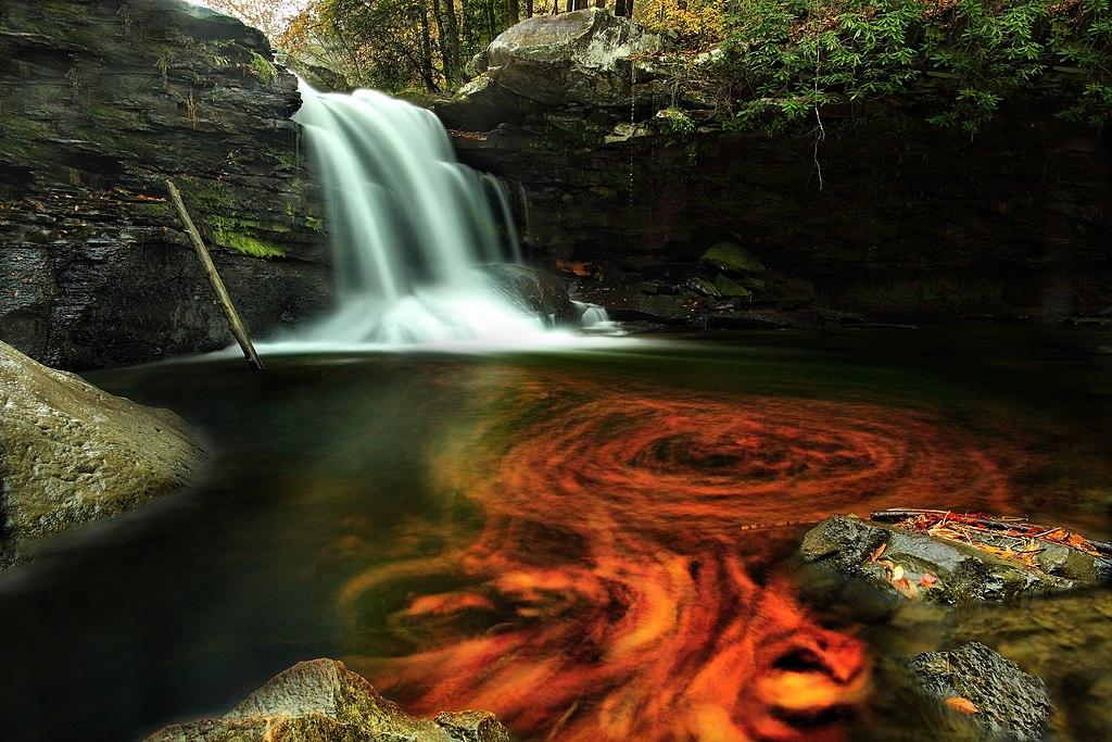 Fall Autumn Desktop Wallpaper File Fiery Autumn Waterfall Virginia Forestwander Jpg