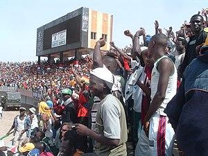 Guinea fans at a Gambia v Guinea football matc...