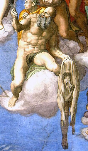 "Detail of Michelangelo's ""The Last Judgem..."