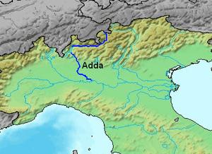 Adda River location