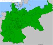Mapa del Imperio alemán.