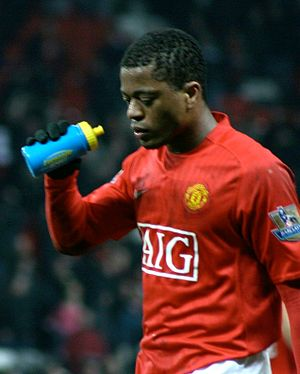Evra comes off the pitch after a match versus ...