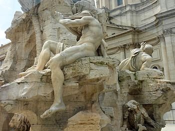 English: Rome, Piazza Navona (fountain of the ...