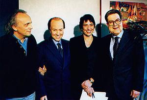 Italiano: Foto con Romano Prodi e Silvio Berlu...