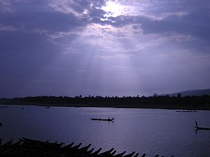 Crepuscular rays over Bangladesh