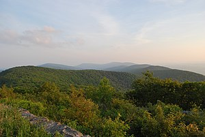 Looking south from Reddish Knob on Shenandoah ...