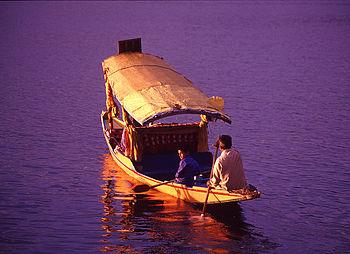 English: Shikhara on Dal Lake, Srinagar, Jammu...