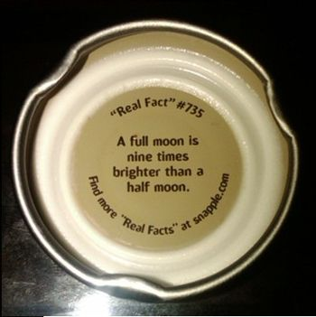 "English: Snapple ""Real Fact"" # 735"