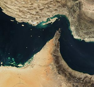 The Strait of Hormuz.