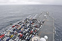 aircraft carrier flight deck diagram fujitsu ten audio wiring wikipedia cars parked on an